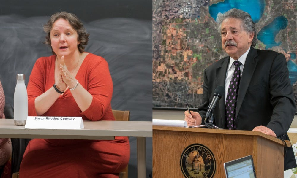 <p>Madison Mayor Paul Soglin will face former Ald. Satya Rhodes-Conway in the mayoral election in April after winning the primary Tuesday.&nbsp;</p>