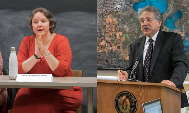 Madison Mayor Paul Soglin will face former Ald. Satya Rhodes-Conway in the mayoral election in April after winning the primary Tuesday.