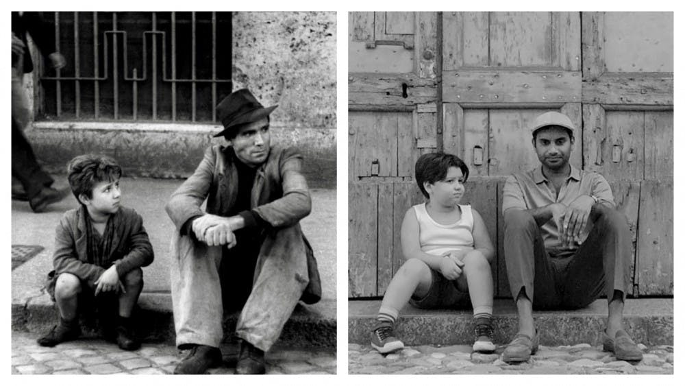 """The classic '40s film """"Bicycle Thieves"""" has influenced various works within modern entertainment such as """"Master of None."""""""