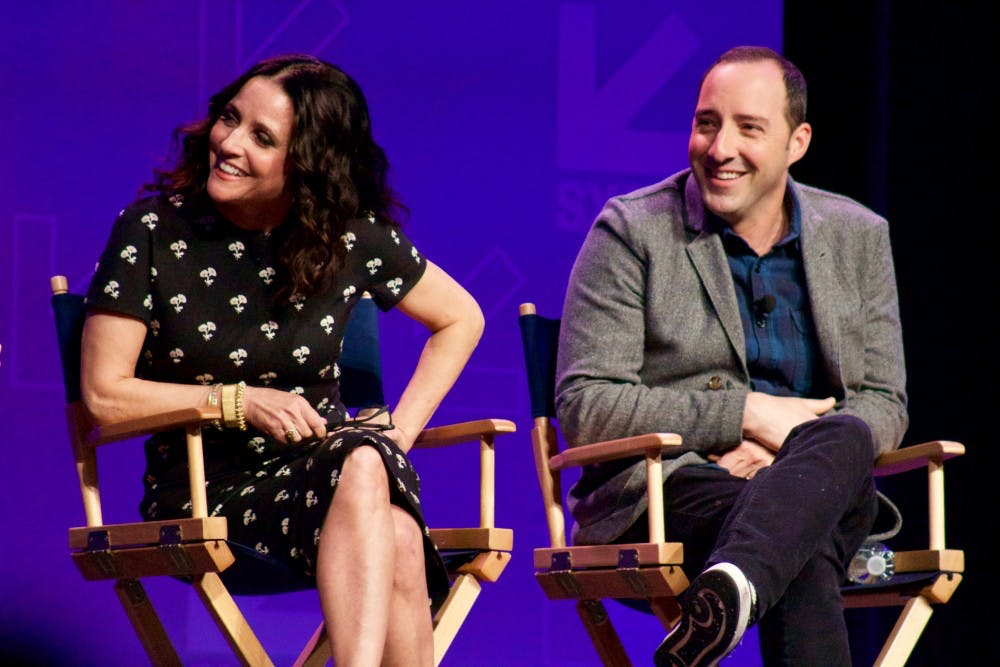 """Julia Louis-Dreyfus and Tony Hale discuss politics and comedy in""""Veep."""""""