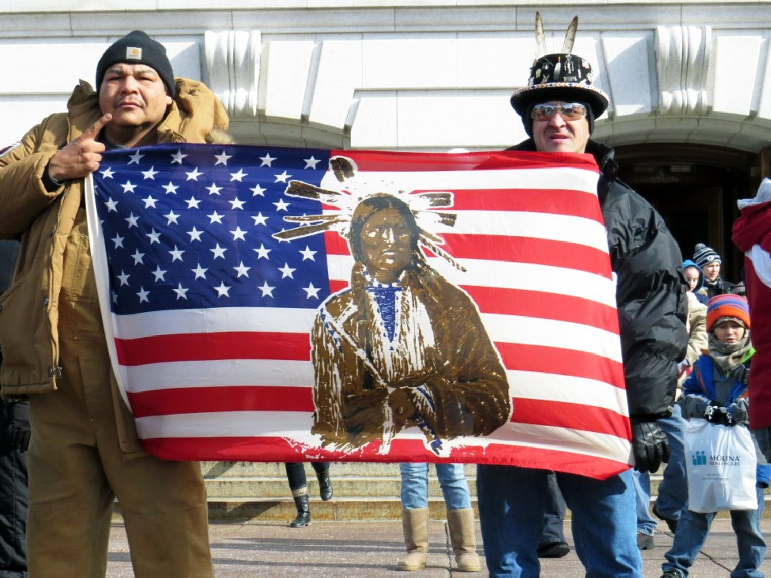Native activists swarmed the Capitol in 2015 to protest Gov. Scott Walker's decision to reject a proposed casino from the Menominee Nation.