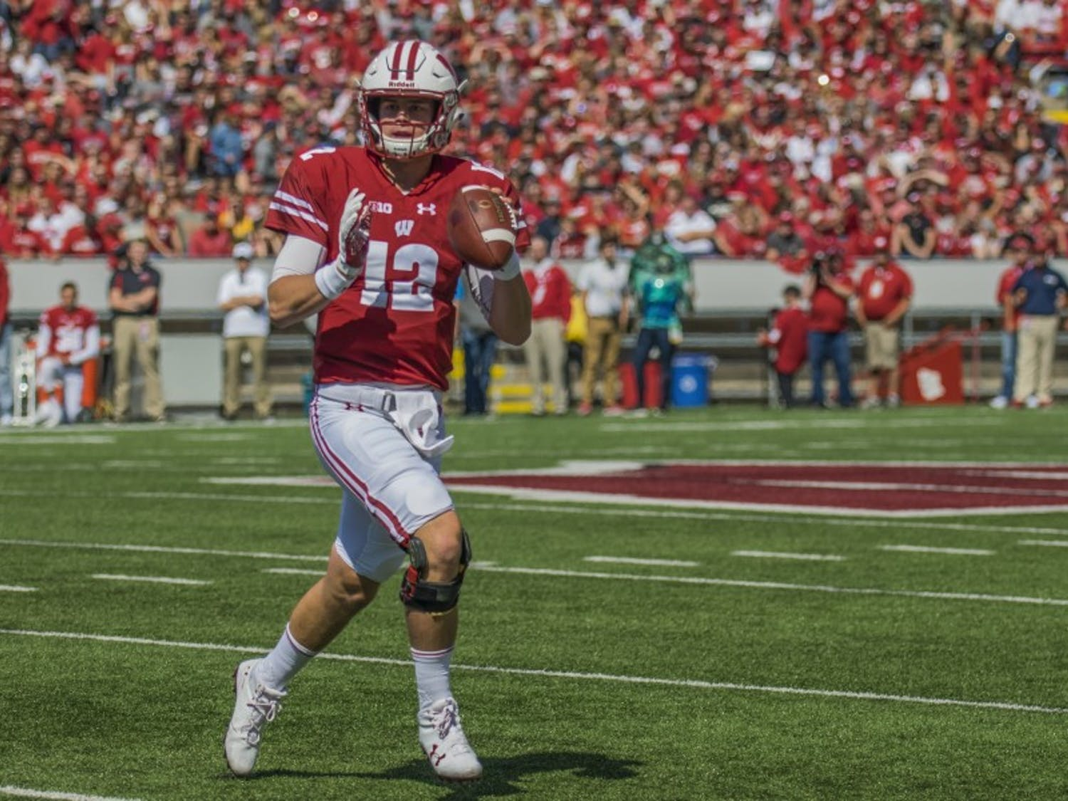 Alex Hornibrook is looking to lead Wisconsin to the top of not only the Big Ten West, but also the Big Ten.