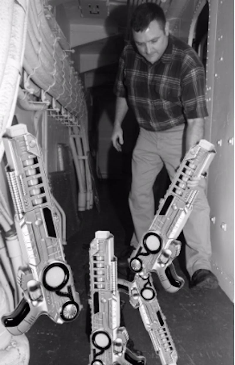 BigDaddy06 showing up his impressive collection of imitation guns.