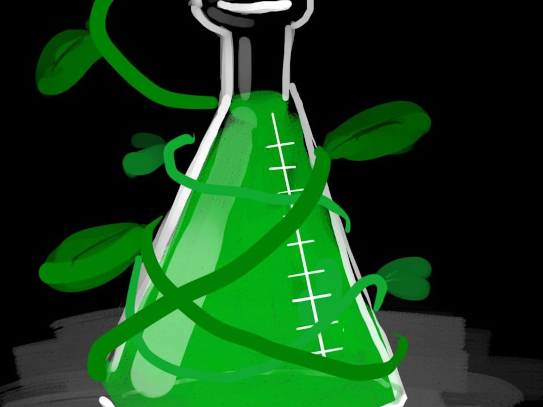 Green chemistry flask