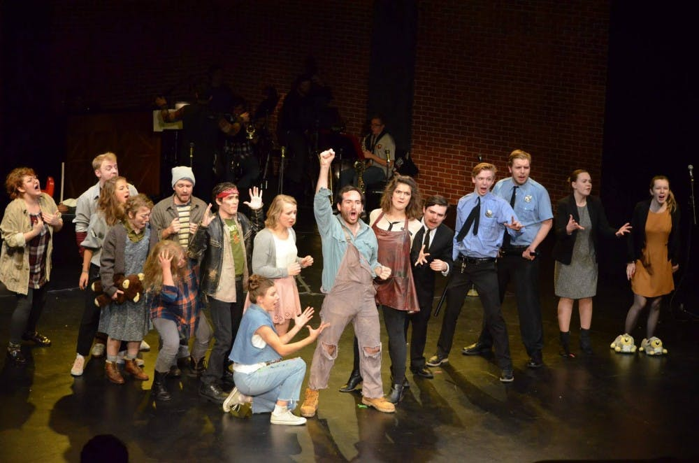 """Every actor just seemed to fit perfectly with their character in this production of """"Urinetown."""""""