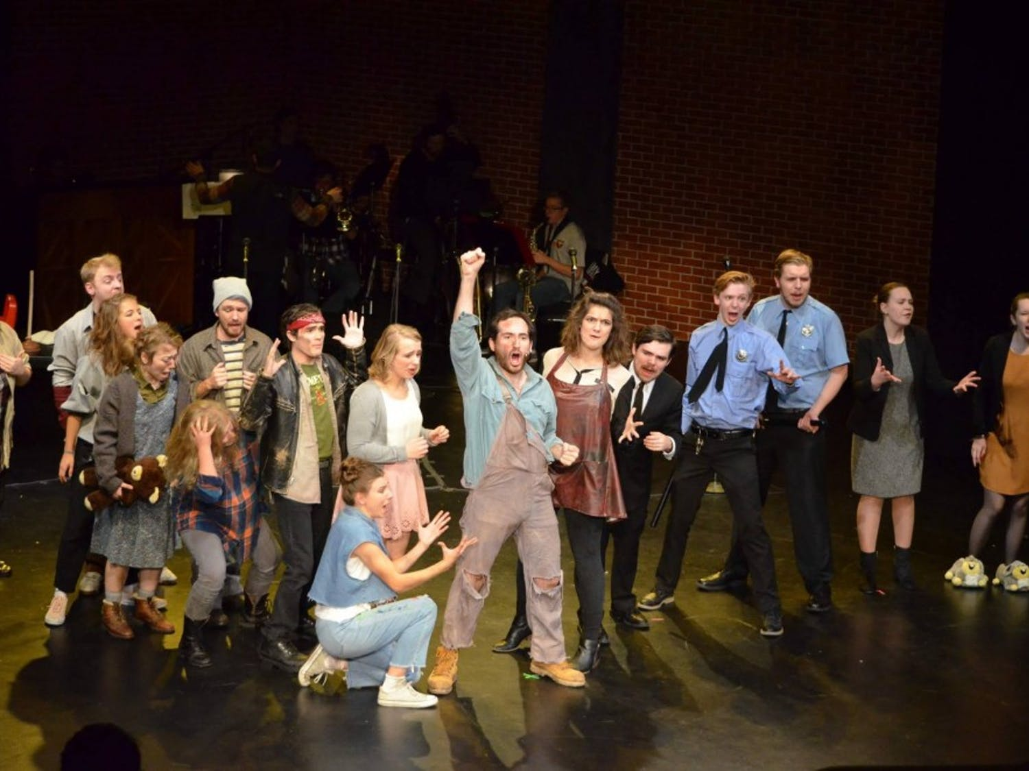 "Every actor just seemed to fit perfectly with their character in this production of ""Urinetown."""