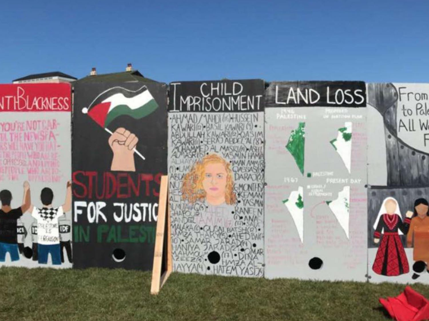 The display panels at the Library Mall demonstration painted Israel in an unfair light.