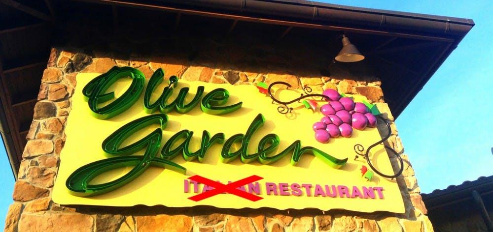 A more accurate description of Olive Garden's cultural authenticity.