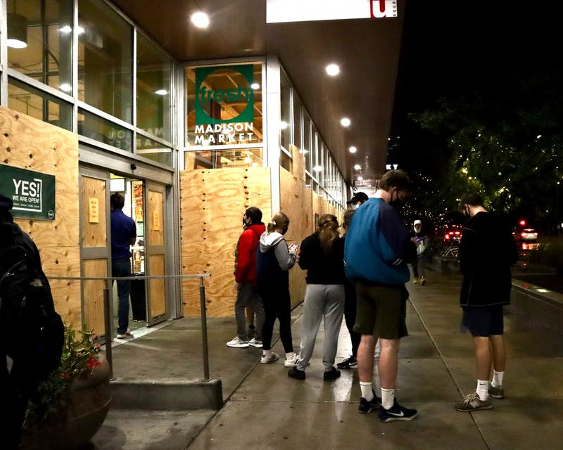 Grocery stores were packed with students not following social distancing guidelines, as they scrambled to purchase essentials before quarantine began