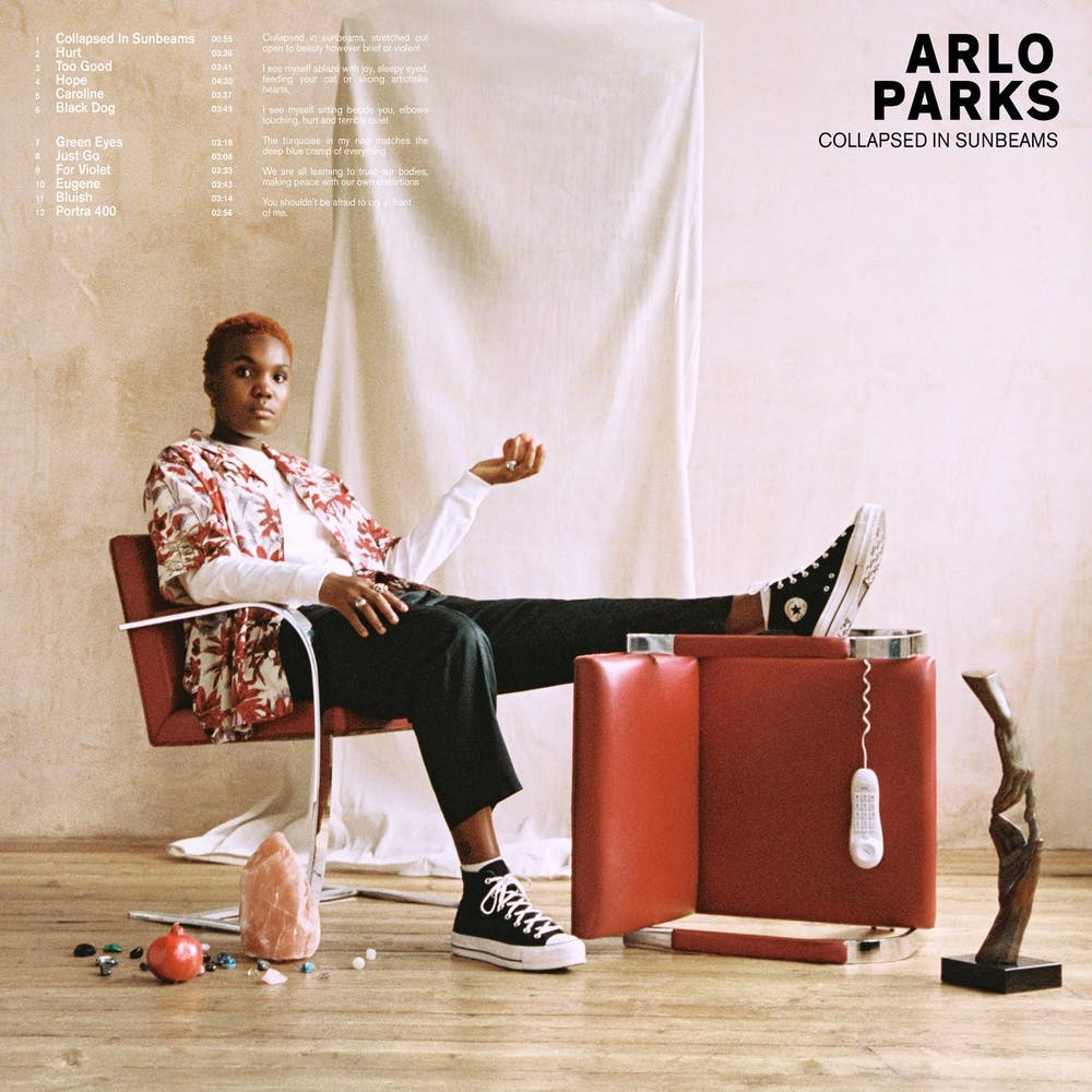 British singer-songwriter Arlo Parks' debut album 'Collapsed in Sunbeams' dropped this past Friday.