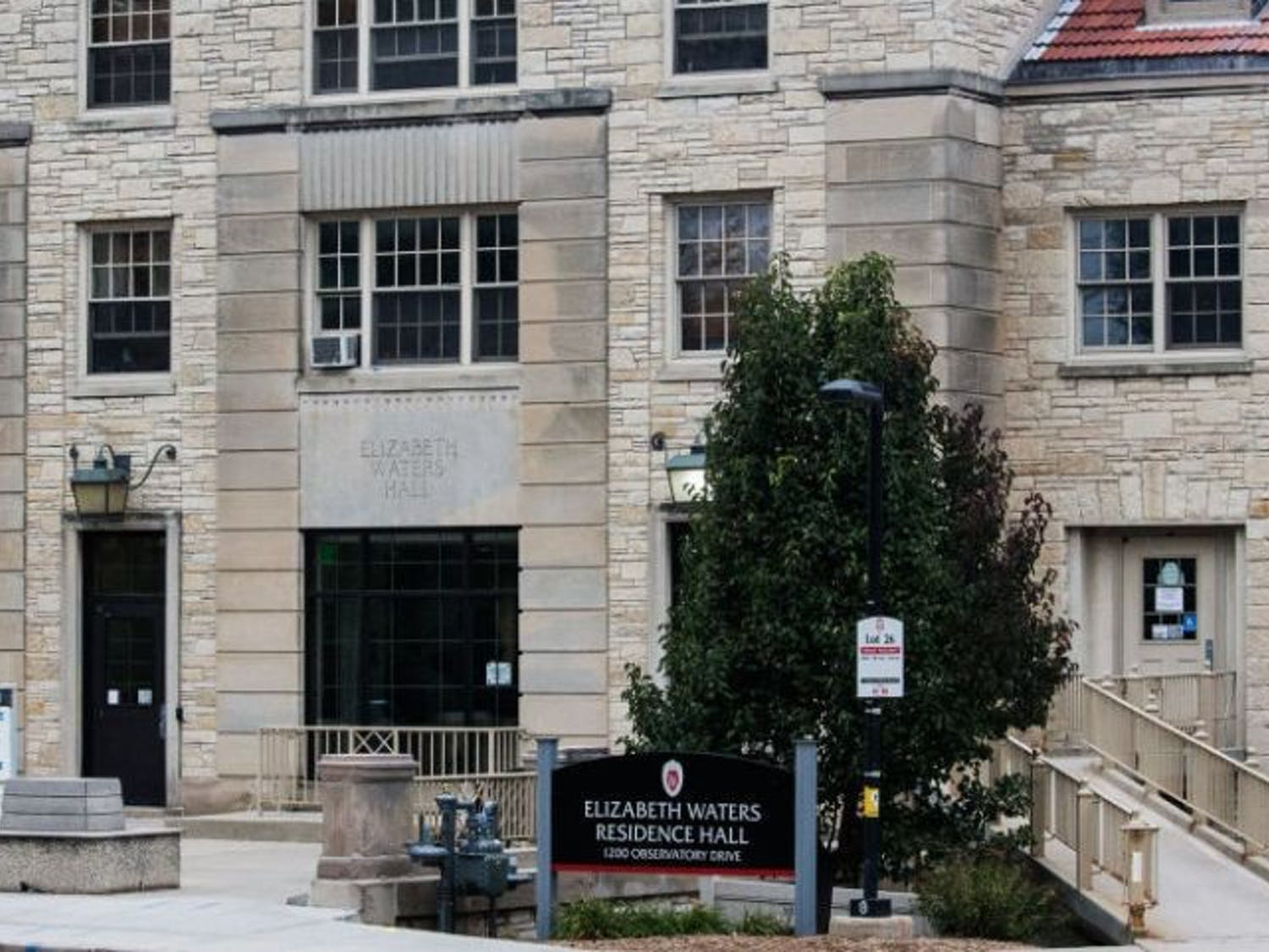 One victim was robbed by two suspects outside of Elizabeth Waters Residence Hall Monday.