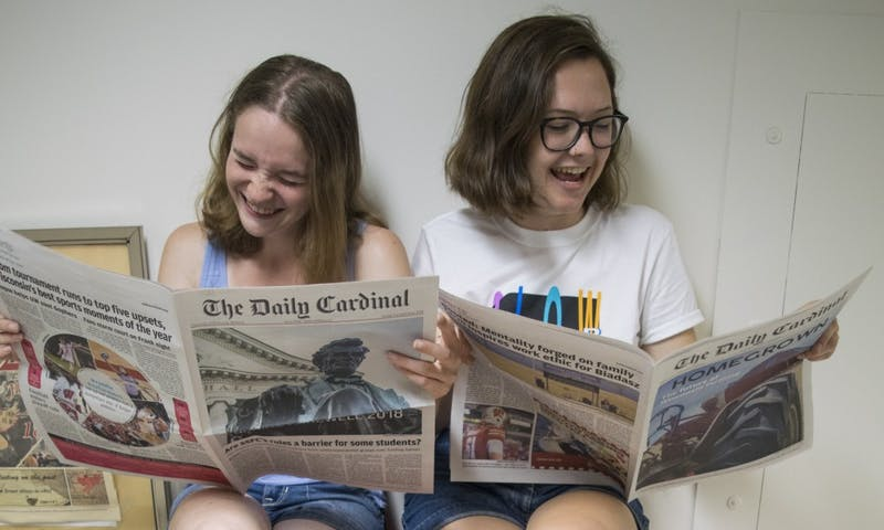 Managing Editor Samantha Nesovanovic and Editor-in-Chief Sammy Gibbons hope new UW-Madison students find their group to nest in in order to make campus feel a little smaller — we would love for that to be The Daily Cardinal.