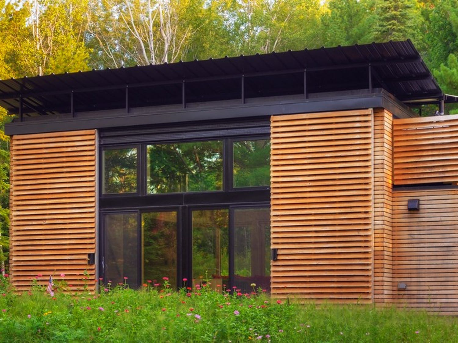 Bill Yudchitz and his son Dan designed and built the award-winning Experimental Dwelling for a Greener Environment.