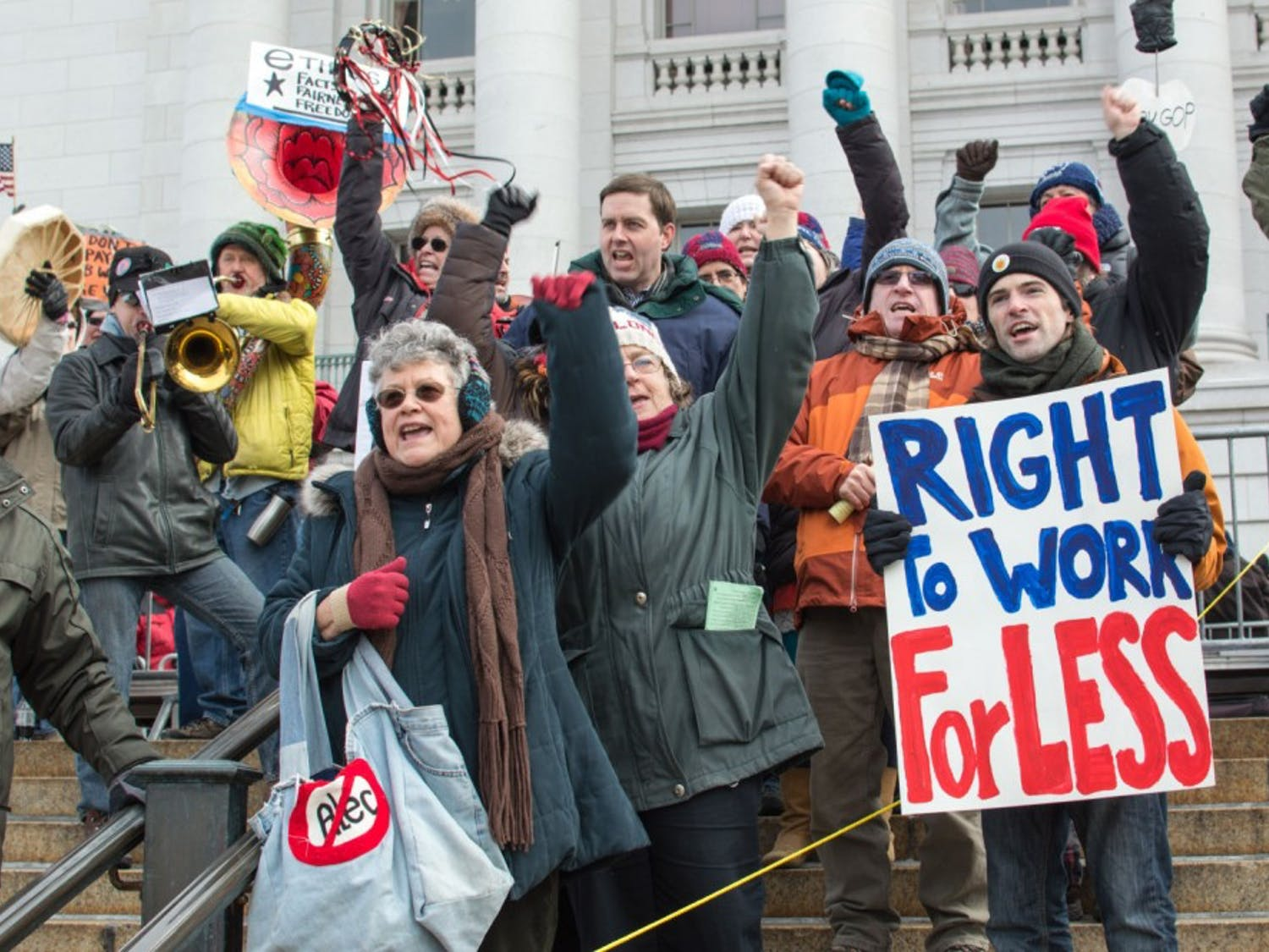 Right-To-Work Protest