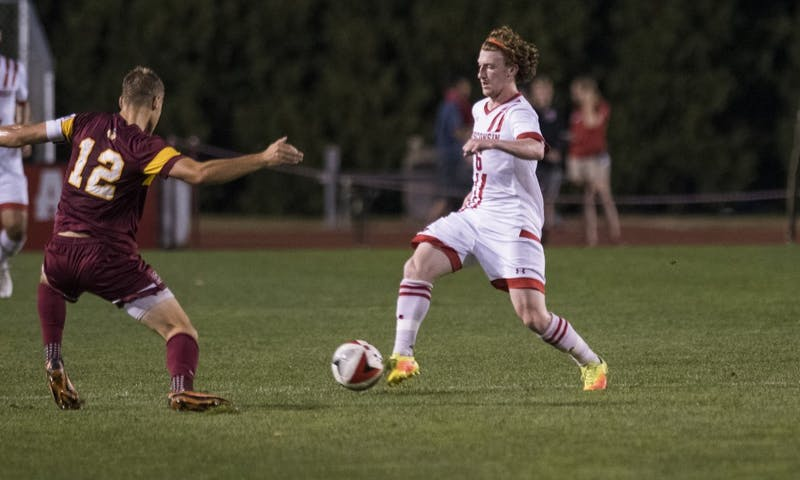 Junior midfielder Mitch Guitar helped guide the Wisconsin Badgers over the Buckeyes in overtime.