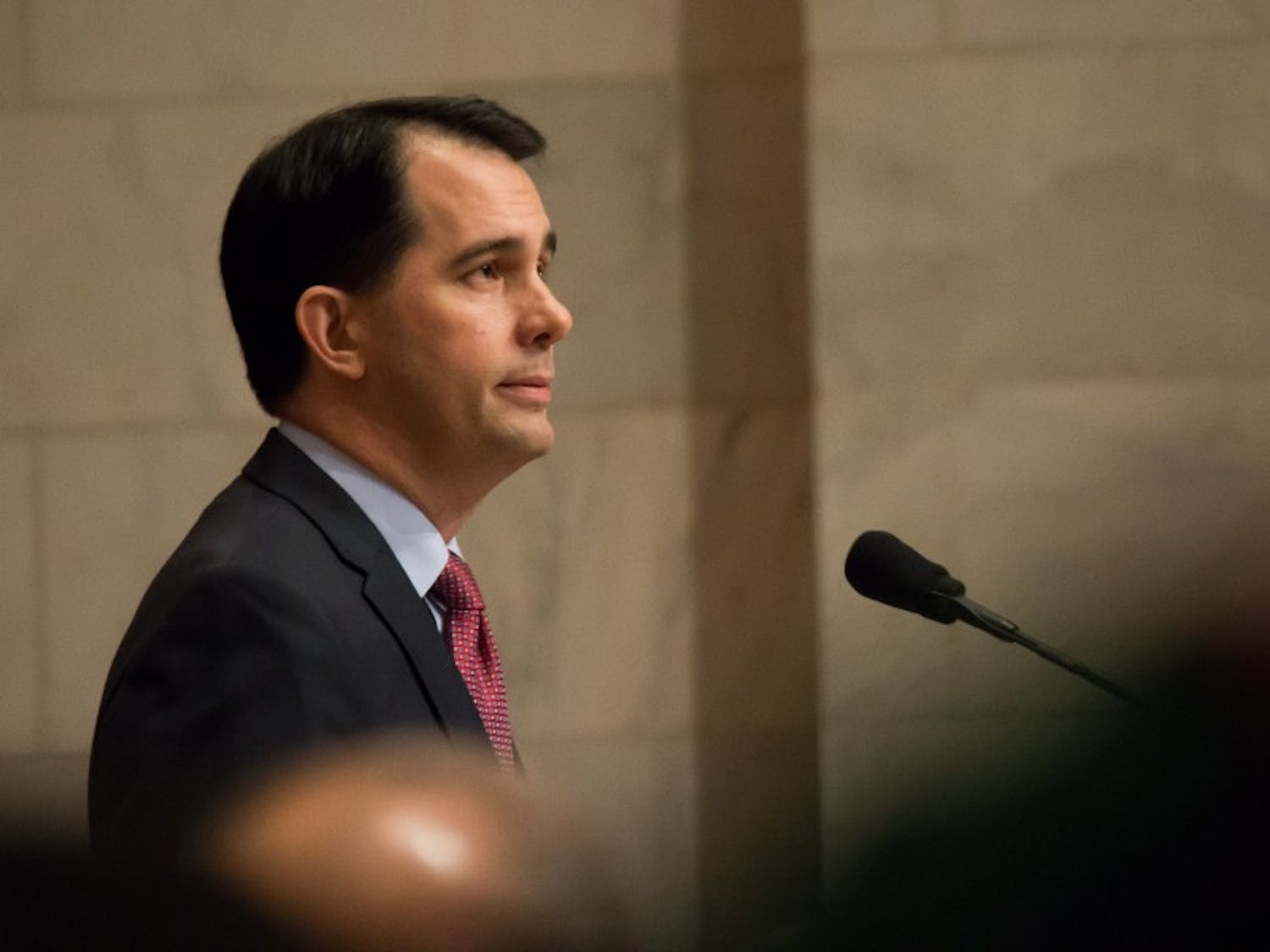 Gov. Scott Walker said he would not approve raising the gas tax in an effort to fix roads, despite opposition from some legislative Republicans.