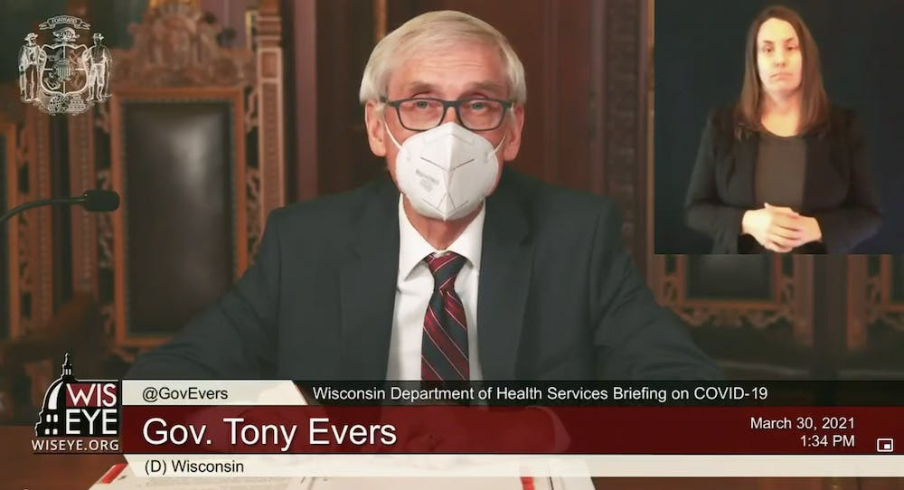 Gov. Tony Evers discusses expanding vaccine eligibility to all Wisconsinites aged 16 and up.