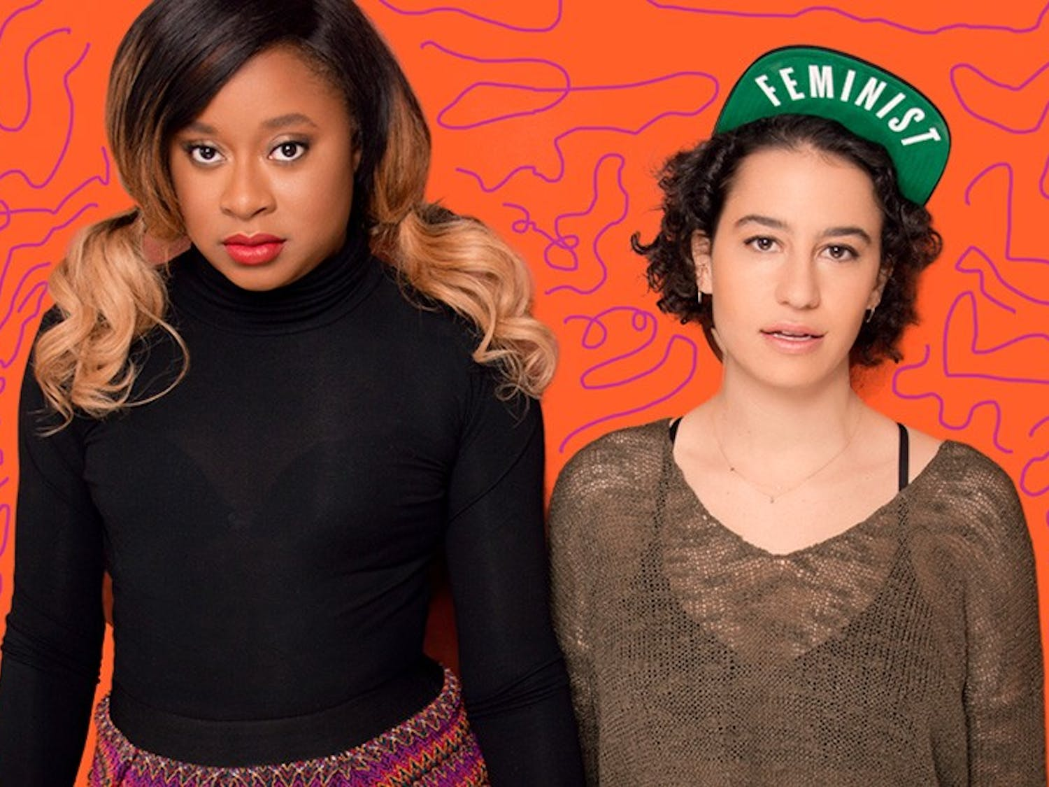 Phoebe Robinson (Left) and Ilana Glazer proved to be a good match for their comedy sets this past weekend.