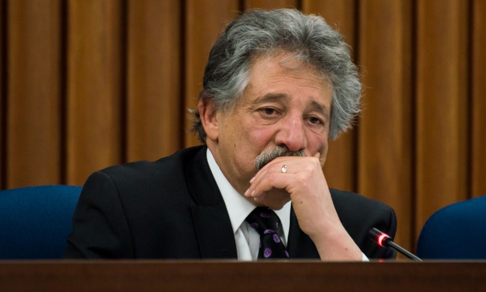 Madison Mayor Paul Soglin held a press conference Wednesday to publicly oppose the state legislature's restrictions on municipalities.