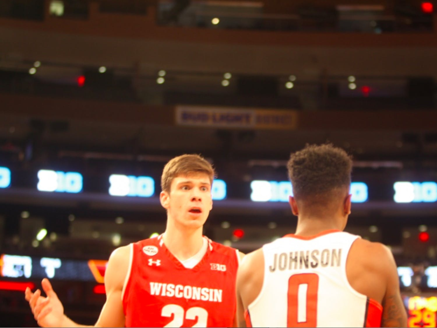 Despite this moment of frustration after a questionable call,Ethan Happ stole the show right around the corner from Broadway.