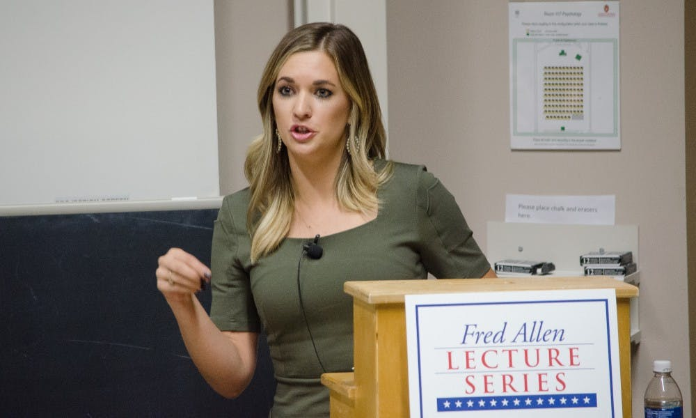 Conservative author and pundit Katie Pavlich visited campus Tuesday to speak about second amendment rights and gun use for self-defense.