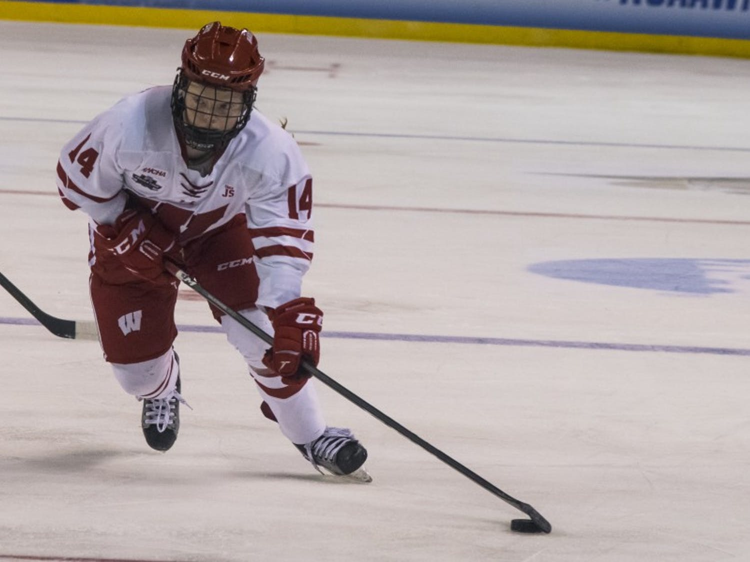 Sophomore forward Alexis Mauermannscored the opening goal of Wisconsin's game on Saturday, but UW fell short, 3-1.