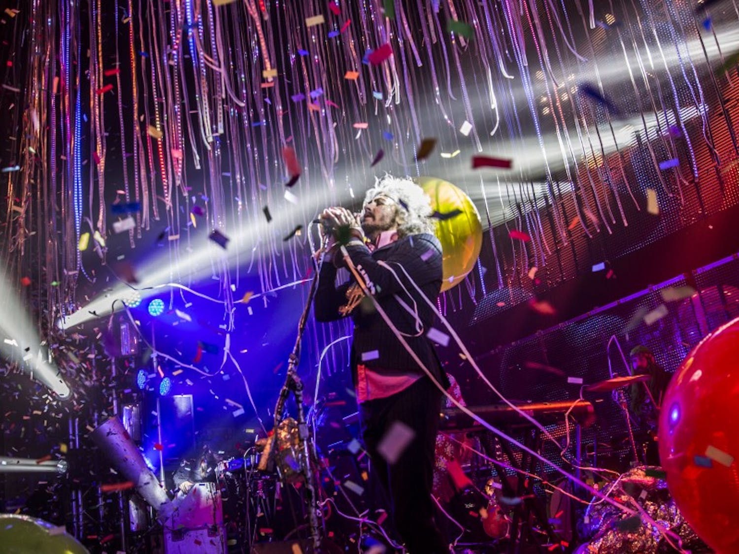 TheFlaming Lips' frontmanWayne Coyneperforming a mind-bending set at the Orpheum on Friday.