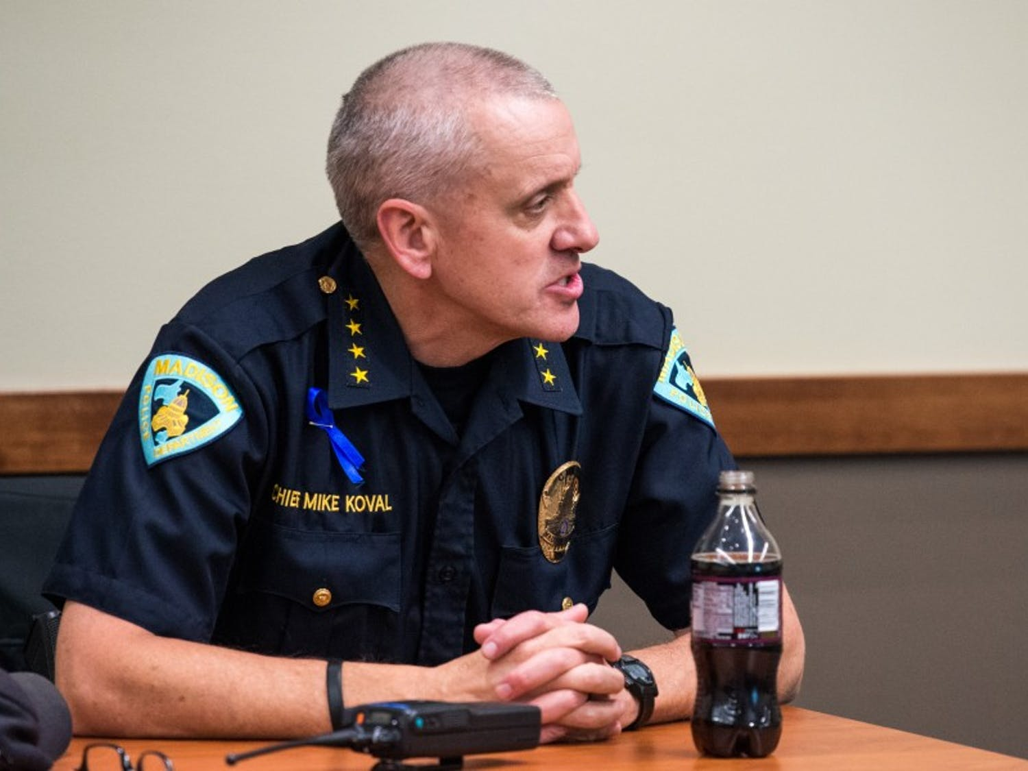 """Police Chief Mike Koval expressed Friday MPD's discontent with the historic settlement reached in the Tony Robinson case last week, highlighting that it should not be seen as an """"admission of guilt."""""""
