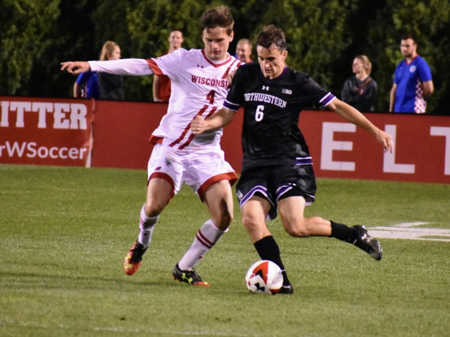 Senior midfielder and defender Enda O'Neill helped UW blank Loyola Chicago 2-0.