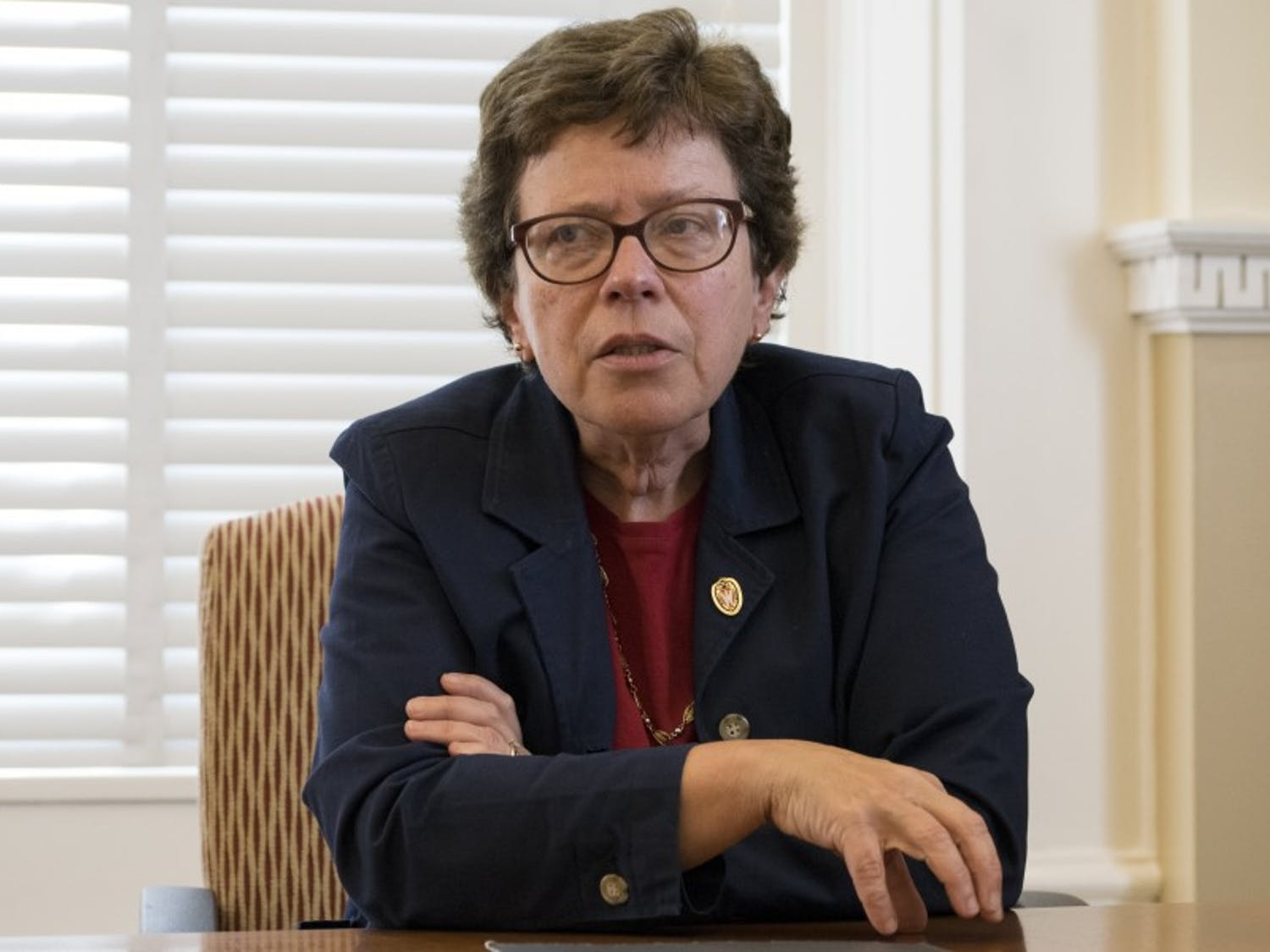 Chancellor Rebecca Blank said Wednesday that her hopes were high that students would be able to return to campus in the fall.