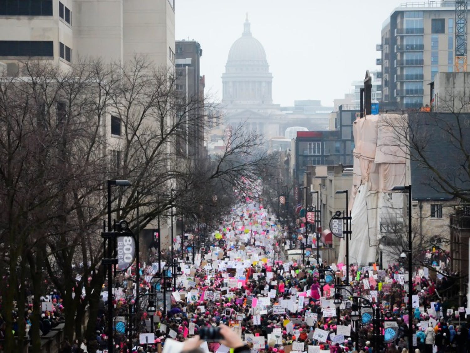 One of the themes of the Madison Women's March in January was combating sexual assault.