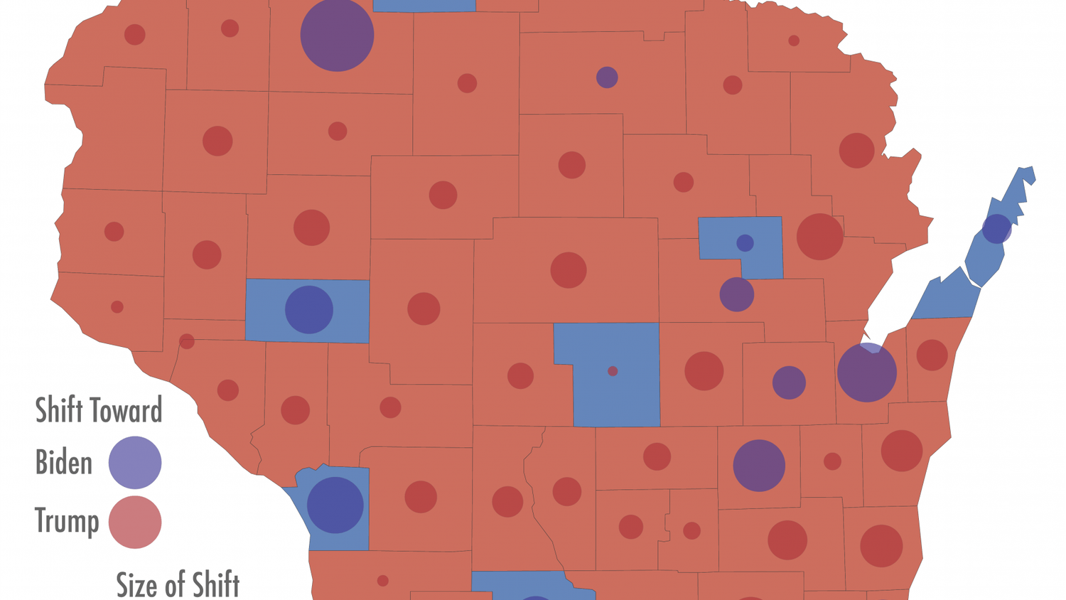 With final margins looking strikingly similar to 2016, Biden was able to pull enough votes out of Dane and Milwaukee County to secure the state.
