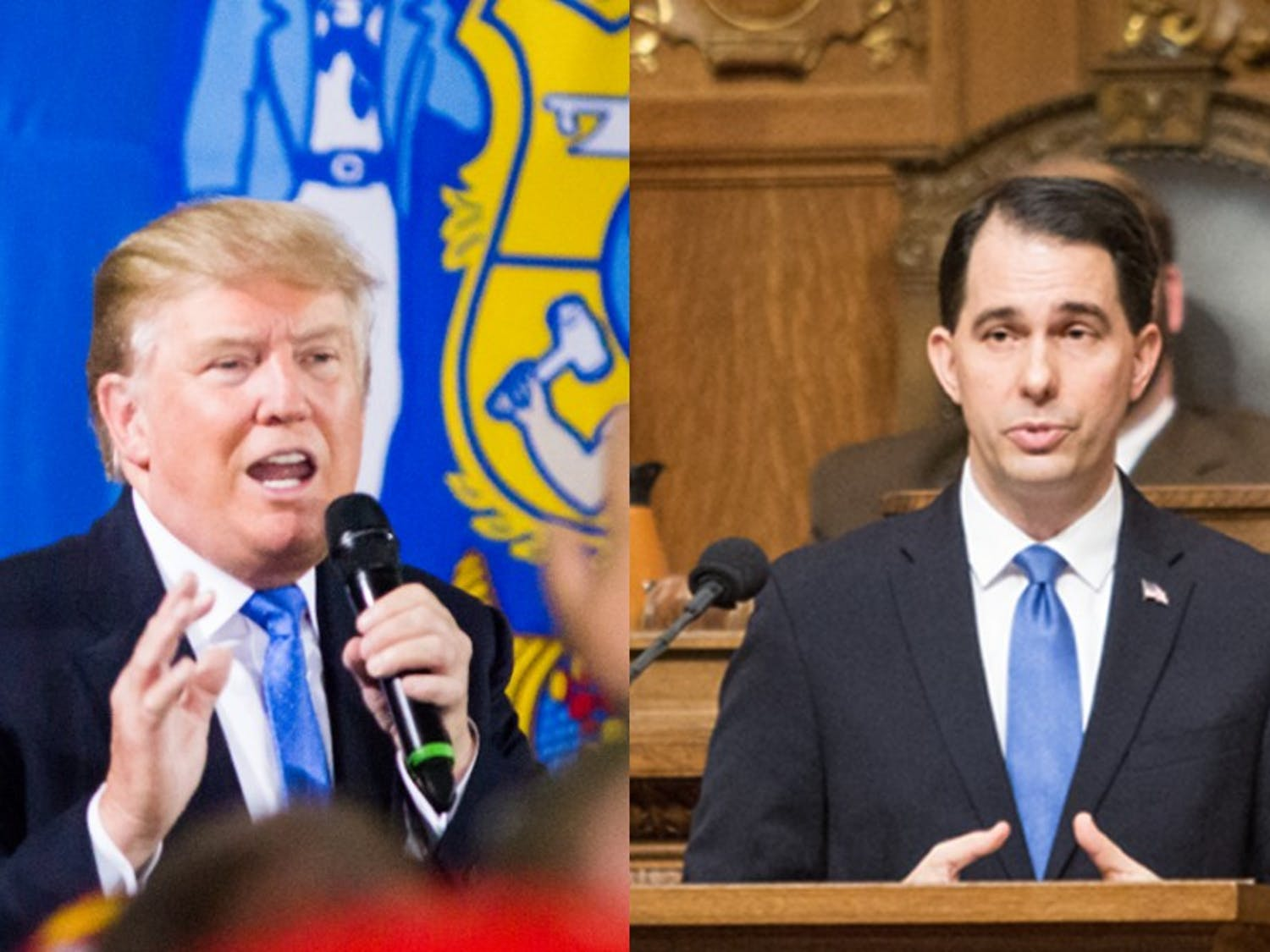 Gov. Scott Walker said Wednesday that he would support the eventual Republican nominee in the November election.