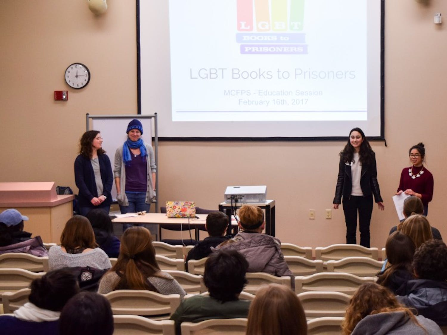 Badger Volunteer hosted a presentation of LGBT Books to Prisons Thursday, which donates educational books to LGBT individuals in prison systems.