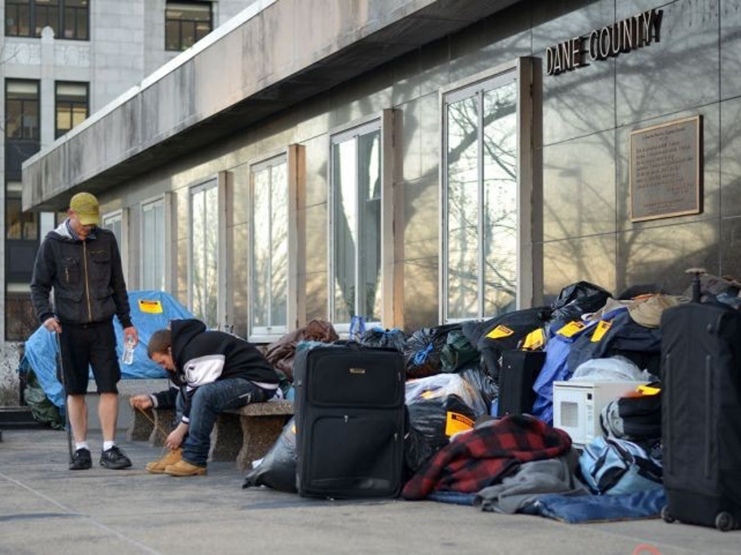 Photo of a group of people that were homeless.