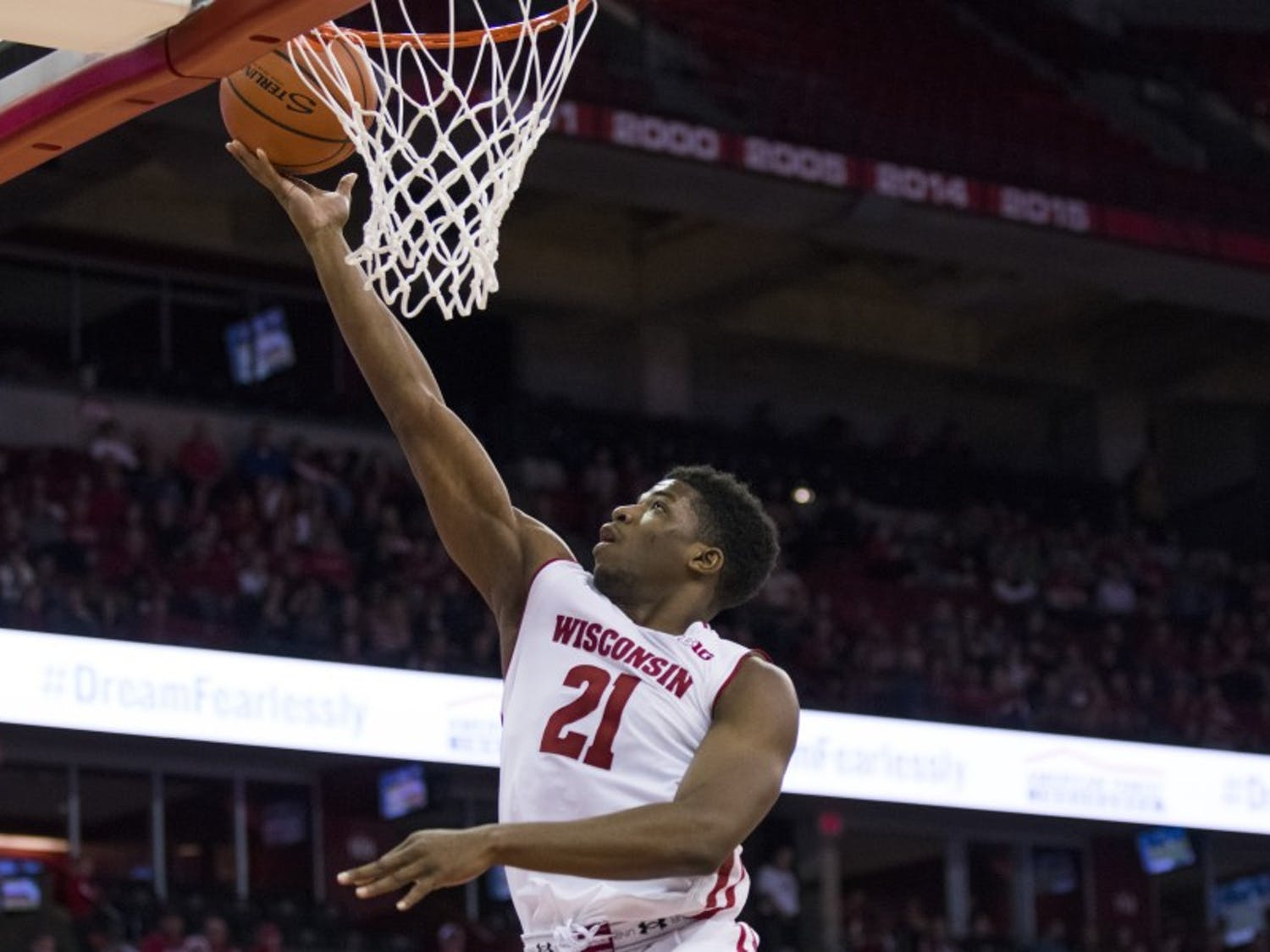 Senior forward Khalil Iverson scored two key baskets to start the first half and played a jack-of-all-trades role in the win over Rutgers.