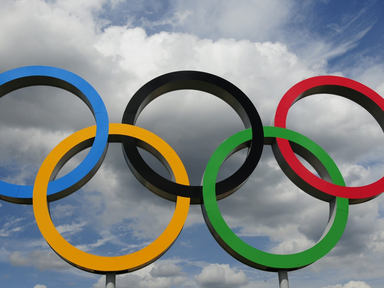 Photo of the Olympic Rings.