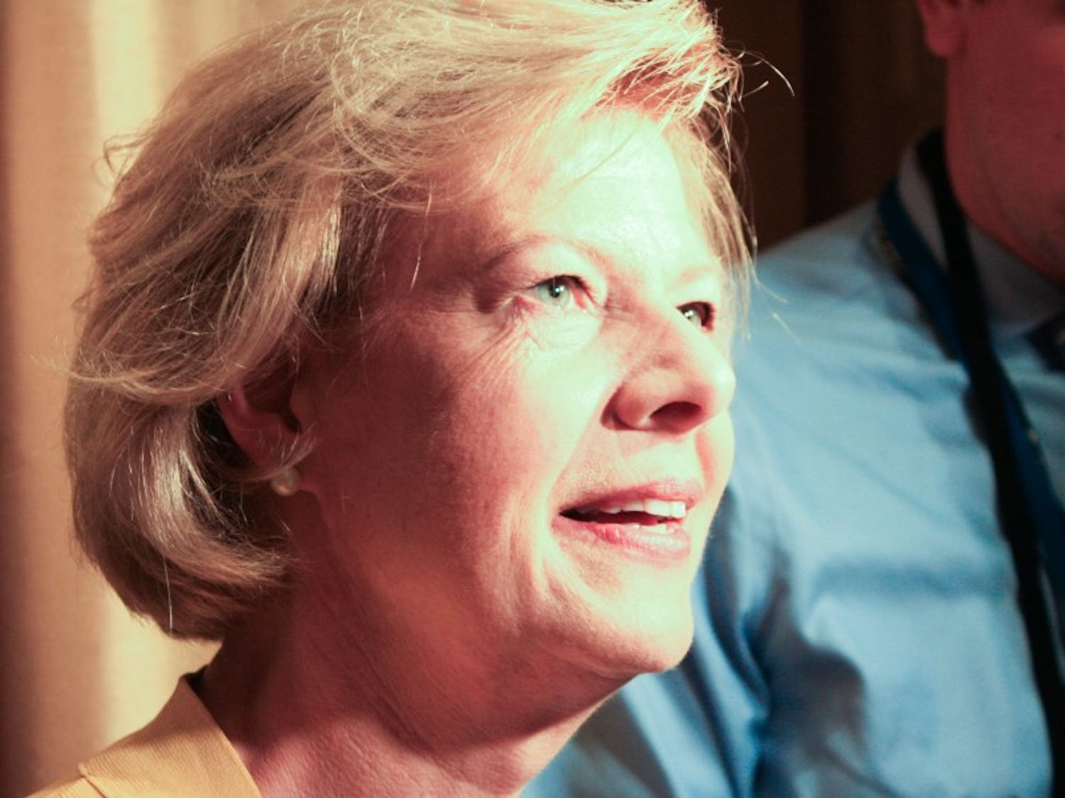 U.S. Sen. Tammy Baldwin, D-Wis., said the nomination of Hillary Clinton this year is historic for women in public service.