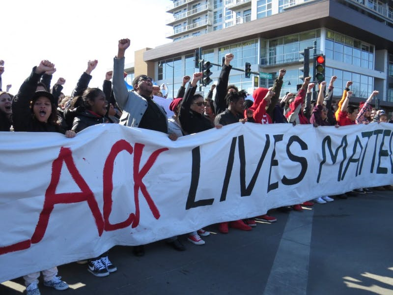 Protesters lined the streets of Madison Saturday, protesting the death of unarmed Tony Robinson.