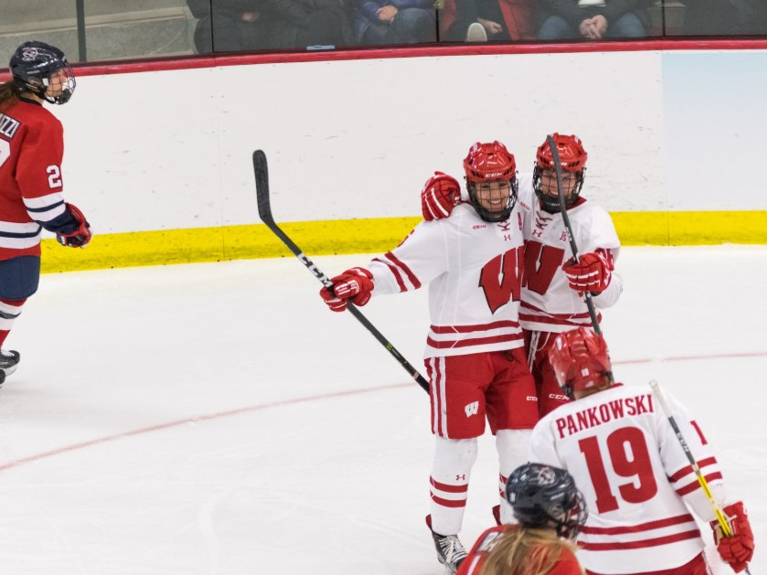 Gallery: Wisconsin Badgers crush Robert Morris, advance to fourth-straight Frozen Four
