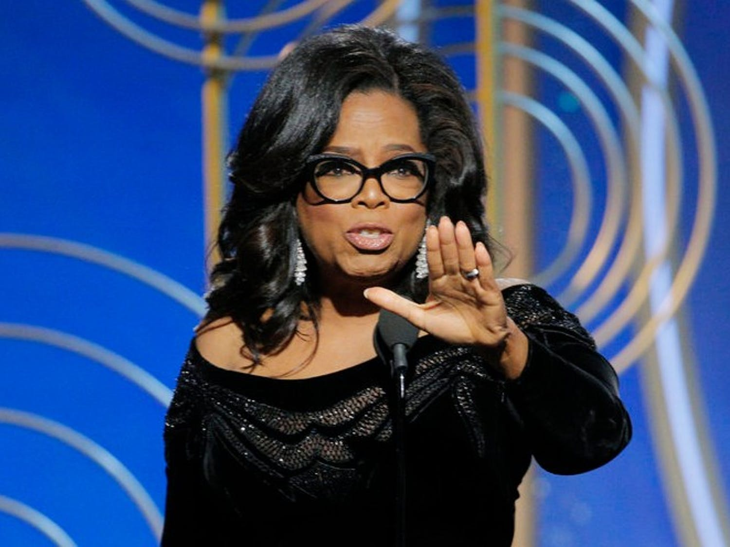 75th ANNUAL GOLDEN GLOBE AWARDS -- Pictured: Oprah Winfrey, Winner, Cecil B. Demille Award at the 75th Annual Golden Globe Awards held at the Beverly Hilton Hotel on January 7, 2018 -- (Photo by: Paul Drinkwater/NBC)