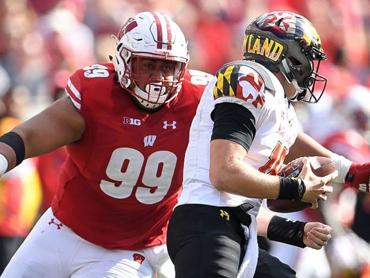 Senior nose tackle Olive Sagapolu waslisted out for the season before Wisconsin's game before No. 21Penn State. Junior quarterback Alex Hornibrook is questionable after being in concussion protocol.