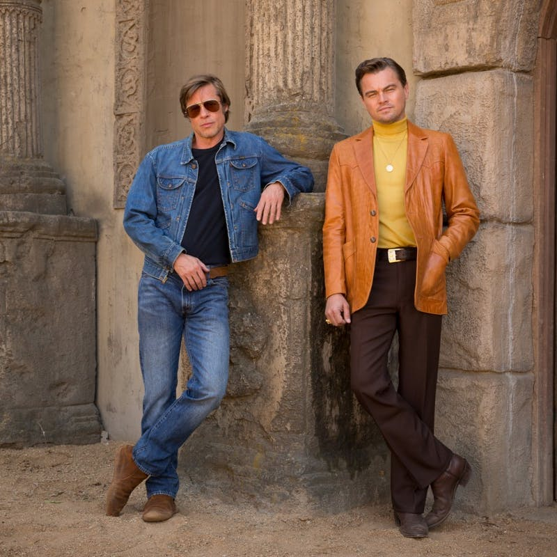 "Brad Pitt and Leonardo DiCaprio star in Quentin Tarantino's ""Once Upon a Time in Hollywood""."