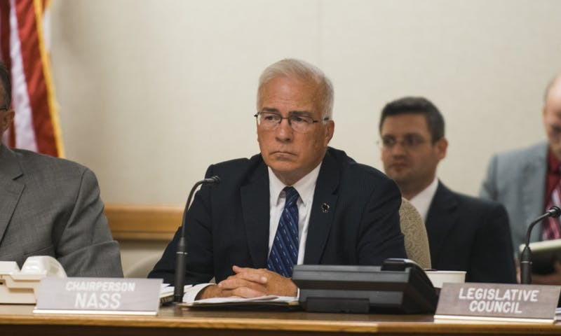 "State Senator Steve Nass, R-Whitewater, questions integrity of UW-Whitewater Chancellor to receive eight months' pay to ""do almost nothing"" hour after exit agreement with UW System announced."