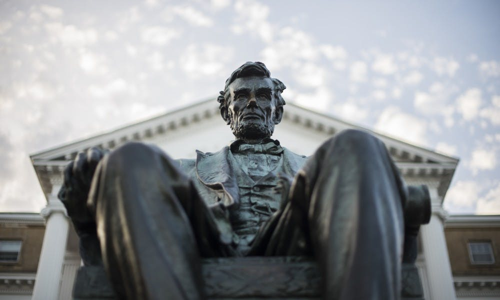 Despite calls from ASM and student groups like Wunk Sheek, Chancellor Blank said the university has no plans to put a plaque on Bascom's Lincoln statue recognizing the president's role in the deaths of natives.