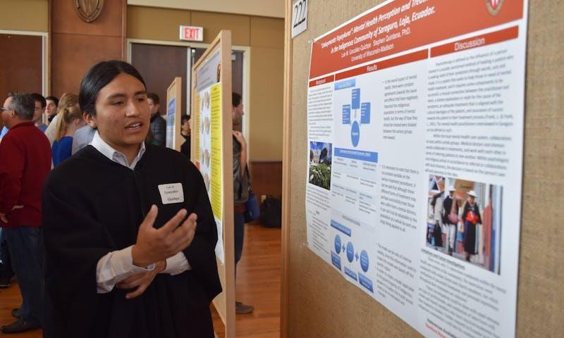 UW-Madison undergraduate Luis Gonzalez explained mental health stigmas that exist within Latin American culture.