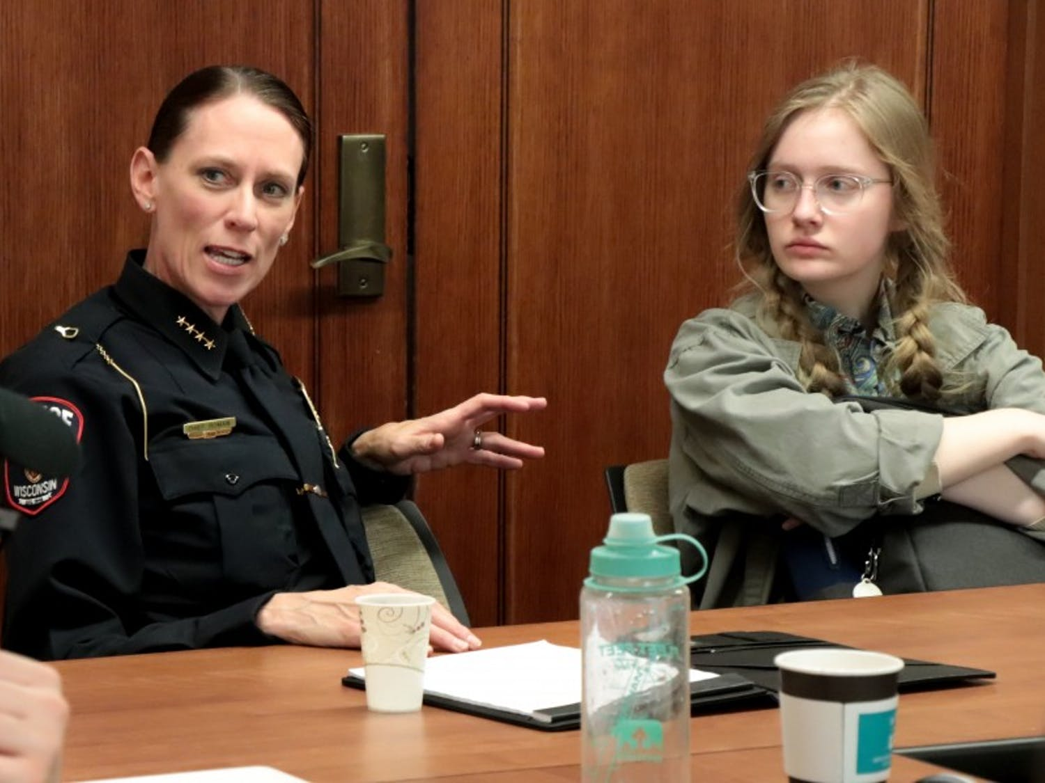 UW-Madison Police Department Chief of Police Kristen Roman discussed campus safety at a talk at Memorial Union.
