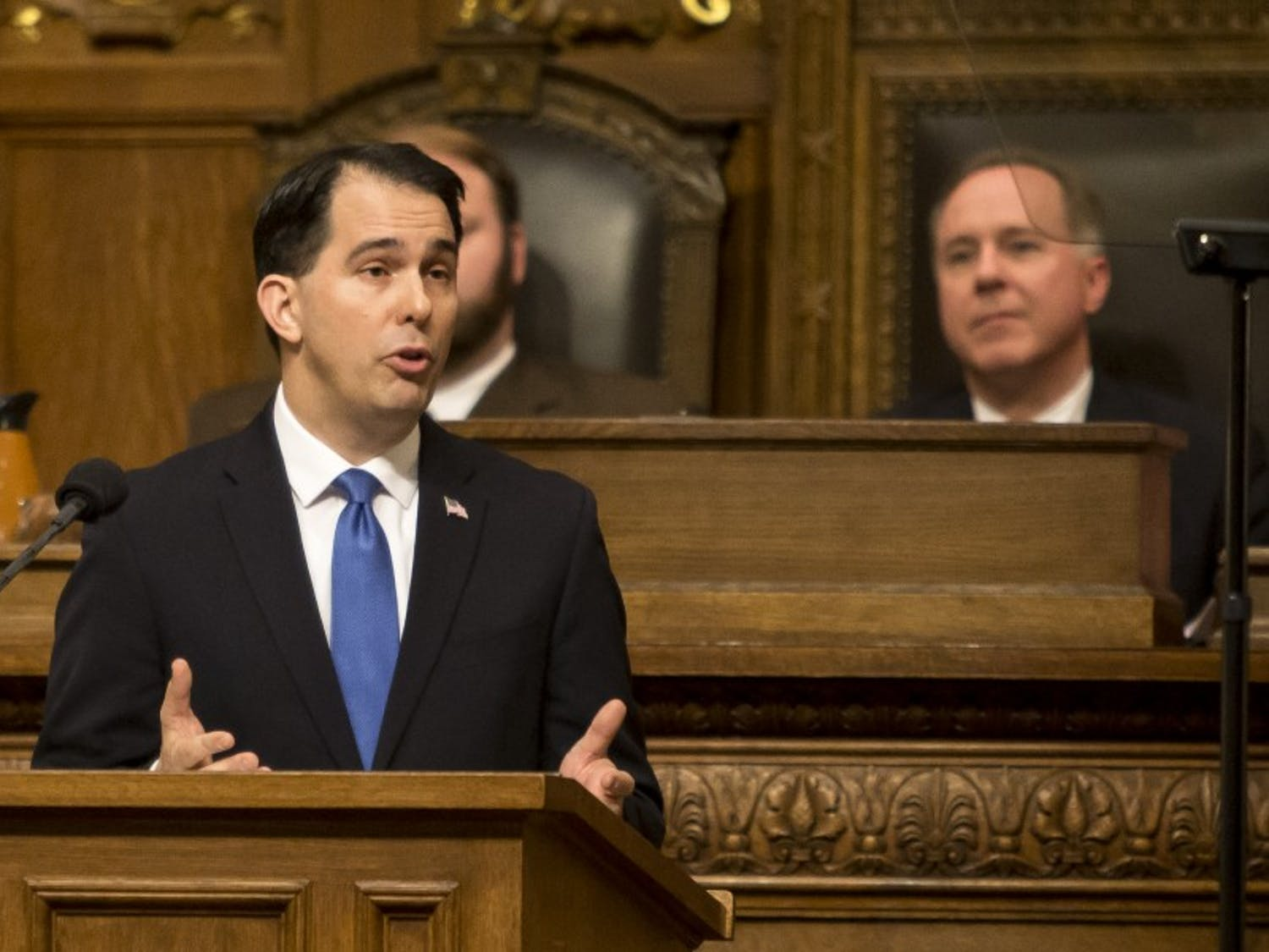 Wisconsin Gov. Scott Walker has indicated that he will push to continue the in-state tuition freeze at UW System schools in the next state budget.