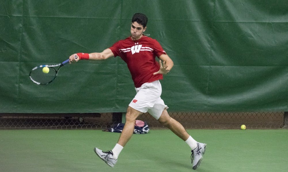 Wisconsin men's tennis picked up its first conference win and first road win of the season Saturday at Nebraska.
