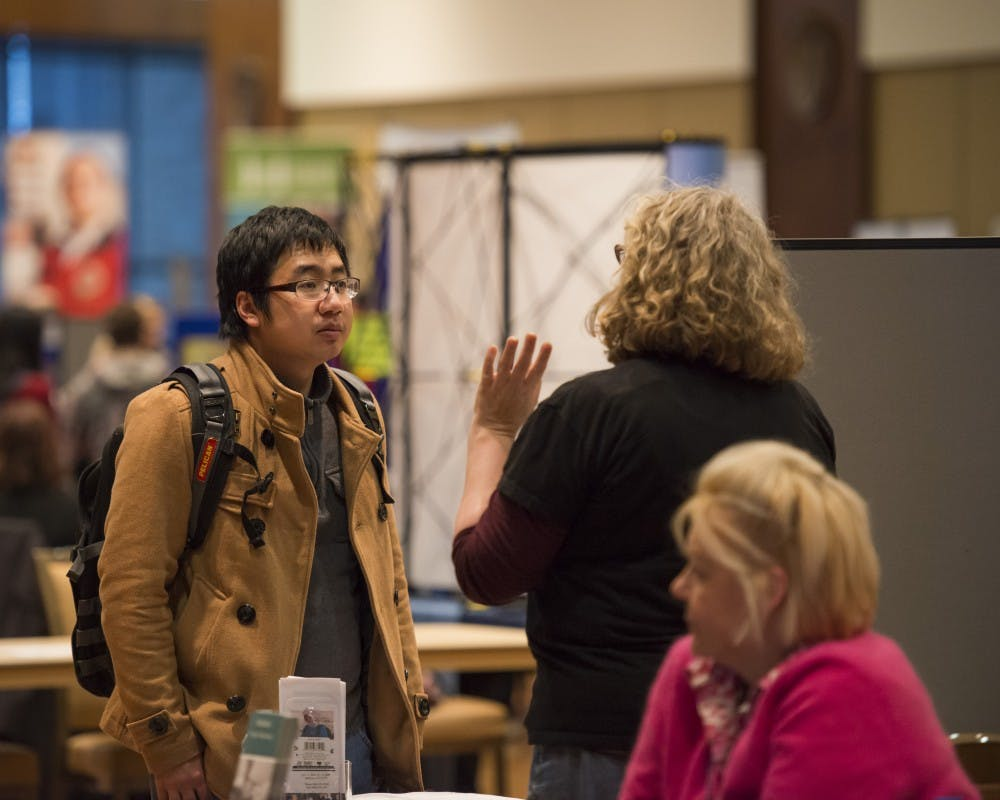 The Morgridge Center hosted about 80 organizations in Varsity Hall at the Public Service Fair.